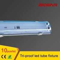 4ft T8 LED 1.2M Tri proof led tube fixture without 2pcs T8 led tube light waterproof dustproof explosionproof free shipping