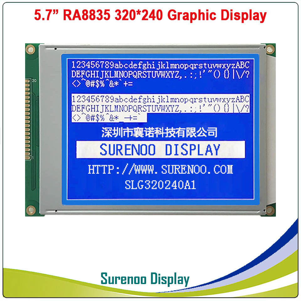 "Image 2 - 5.7"" 320X240 320240 Graphic LCD Module Display Panel Screen LCM with RA8835 Controller Blue Gray LCD, LED Backlight-in LCD Modules from Electronic Components & Supplies"