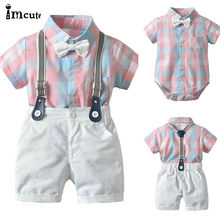 2pcs Toddler Kids Baby Boy Gentleman Outfit Formal Clothes P
