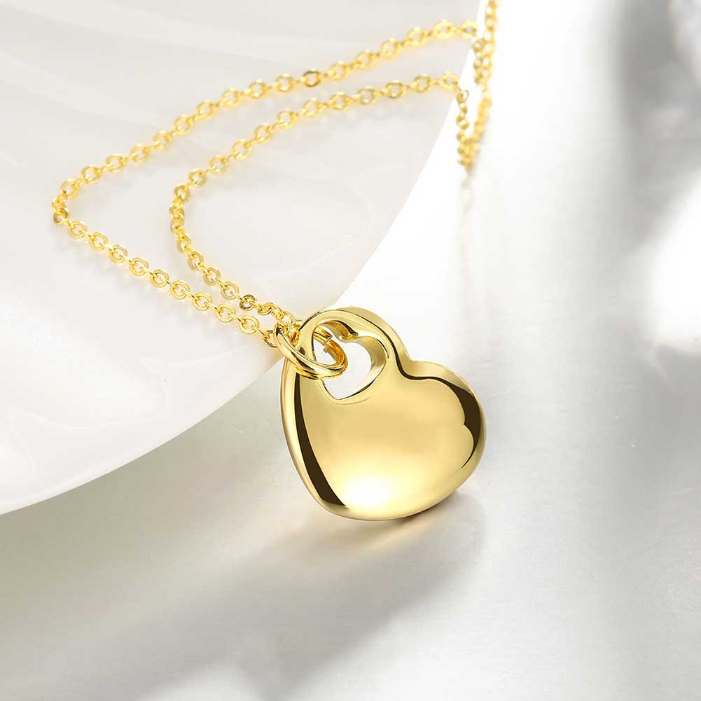 Cute 1 piece womens gold color heart in heart pendant stylish aeproducttsubject aloadofball Images