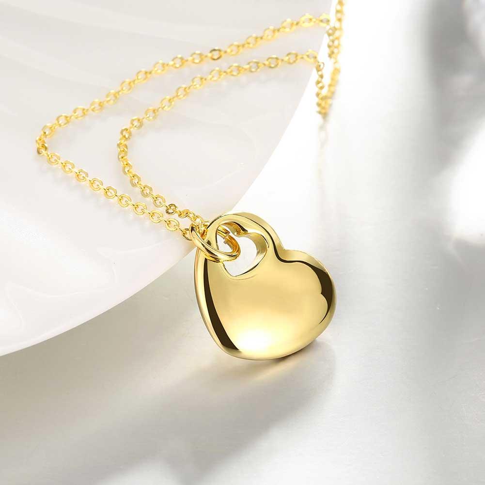 Cute 1 Piece Women s Gold Color Heart in Heart Pendant Stylish ... 9c16d729f