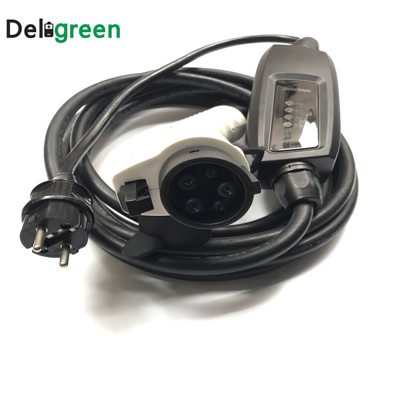 Duosida J1772 level1 EV Charger 16A Type1 schuko Outdoor Portable Wallbox Mode Nissan Chevy Charger Connectors