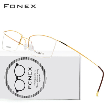 7f881b6a9c Montura de gafas de titanio para hombre ultraligero para hombre gafas de  prescripción para mujer 2018 medio miopía marco óptico coreano sin  tornillos gafas