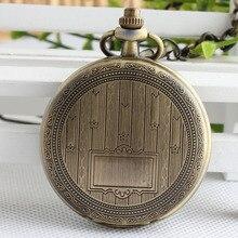 Модные бронзовые механические ручные карманные часы подвеска брелок цепь для мужчин и женщин Подарки