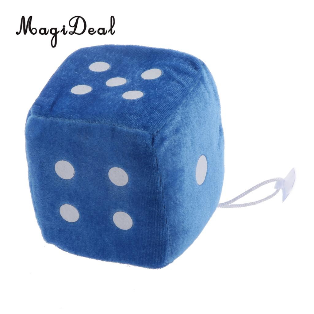 4 дюйма Мягкие плюшевые игрушки для игры в кости куб окна автомобиля зеркало вешалка липкая Декор День рождения подарки Сувенирные игрушки подарок 10x10x10