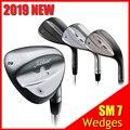 SM7 cuñas de Golf SM7 cuñas negras/Plateadas 50 52 54 56 58 60 grados soporte de palos de Golf de alta calidad la mano derecha