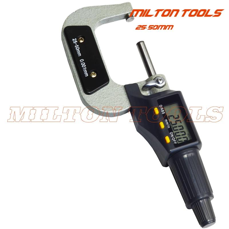 25 50mm x 0 001mm electronic digital Micrometer outside micrometer gauge 25 50mm thickness gauge measuring