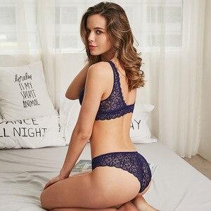 Image 4 - 2019 Phụ Nữ Sexy Ren Áo Ngực Đặt Thời Trang Thiết Kế Mới Trong Suốt Thân Mật Đồ Lót Bralette Đồ Lót Panty Set Dây Miễn Phí Áo Ngực Tập