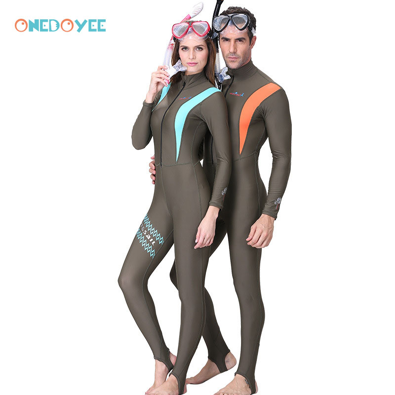 Onedoyee Lovers Diving Suit Cold-proof Wetsuit Male Female Zipper Swimsuit Full Body Jumpsuit Surfing Swimming Rush Guard UPF50+ floor style humidifier home mute bedroom high capacity office creative air aromatherapy machine fog volume fast efficient