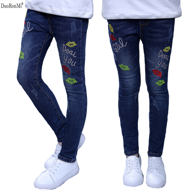 Niños Jeans Duoronmi Otoño Niñas Resorte 2017 Pantalones Del xwwqZ7UB
