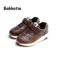 Bakkotie 2017 Fashion Leather Baby Spring Autumn Boy Casual Children Sport Shoe Breathable Kid Brand Sneaker