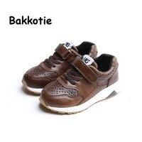 Bakkotie 2017 Fashion Leather Baby Spring Autumn Boy Casual Children Sport Shoe Breathable Kid Brand Sneaker