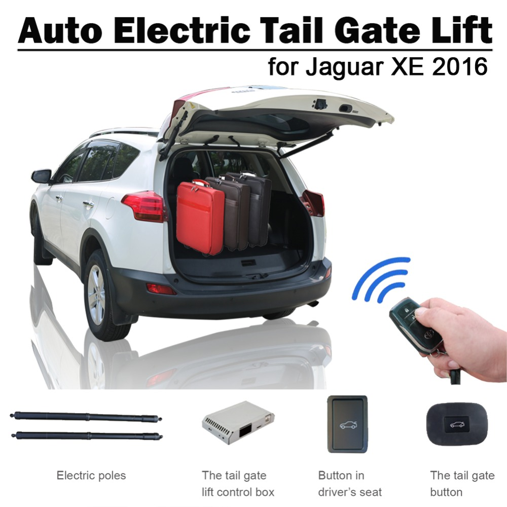Smart Auto Electric Tail Gate Lift For Jaguar XE 2016 Remote Control Drive Seat Button Control Set Height Avoid Pinch