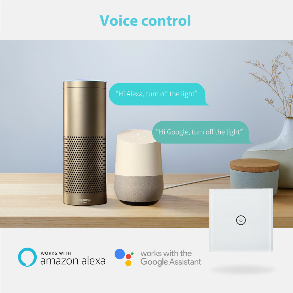 US $22 99 |Smart WiFi Wall Switch, Amazon Alexa & Google Assistant & IFTTT  Supported, App Remote Control Meross MSS510/MSS520H/MSS530H-in Smart Power