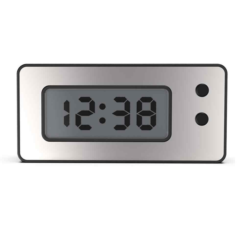 Digital Clock Car Dashboard Waterproof Clock Ultra-thin LCD Digital Display With Calendar Automobile Motorcycle Universal