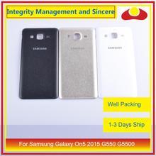 10 pièces/lot pour Samsung Galaxy On5 2015 G550 G550F SM G550FY boîtier batterie porte arrière couverture boîtier châssis coque
