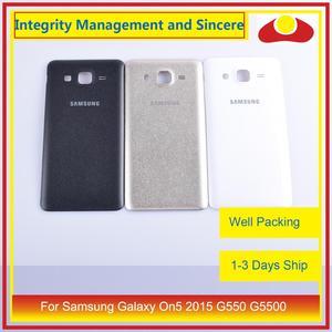 Image 1 - 10 pièces/lot pour Samsung Galaxy On5 2015 G550 G550F SM G550FY boîtier batterie porte arrière couverture boîtier châssis coque