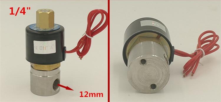 1/4 ''нормально открытый 2 Way Нержавеющая сталь бутадиен-нитрильный каучук электромагнитный клапан 2W025-08BK DC12V DC24V или AC220V