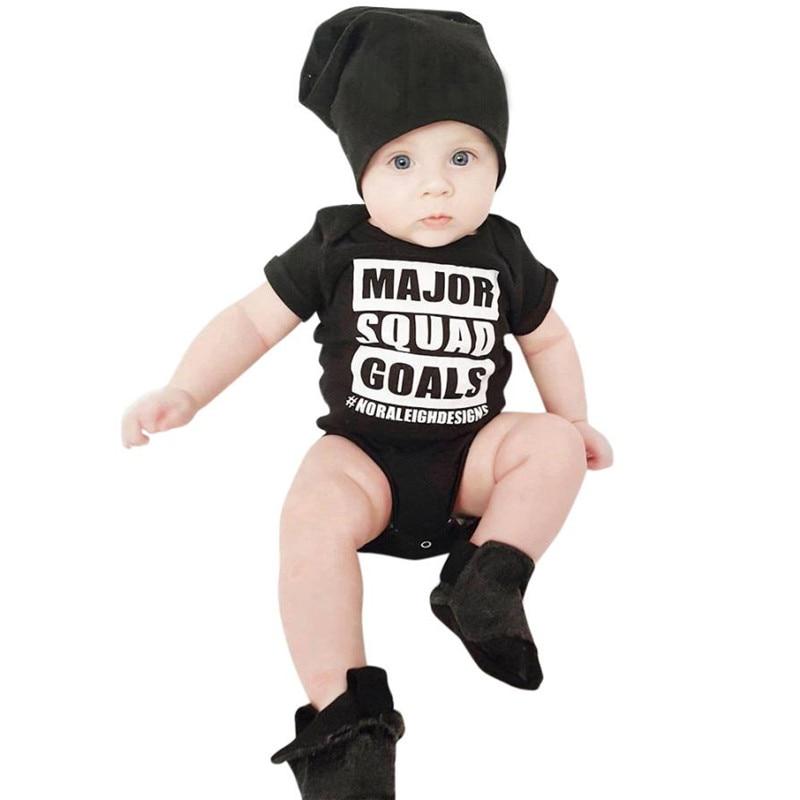 Moda Per Bambini Abbigliamento Neonato Toddler Infant Baby Boy Lettera Stampa Manica Corta Pagliaccetto Playsuit Abbigliamento Stabilisce Il Nuovo Arrivo Essere Famosi Sia A Casa Che All'Estero Per Una Lavorazione Squisita, Un Abile Lavoro A Maglia E Un De