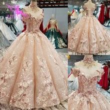 AIJINGYU Real Photo Girl Gowns Cheap For Sale Open Back Classic White Ball Wedding Russian Wedding Dress
