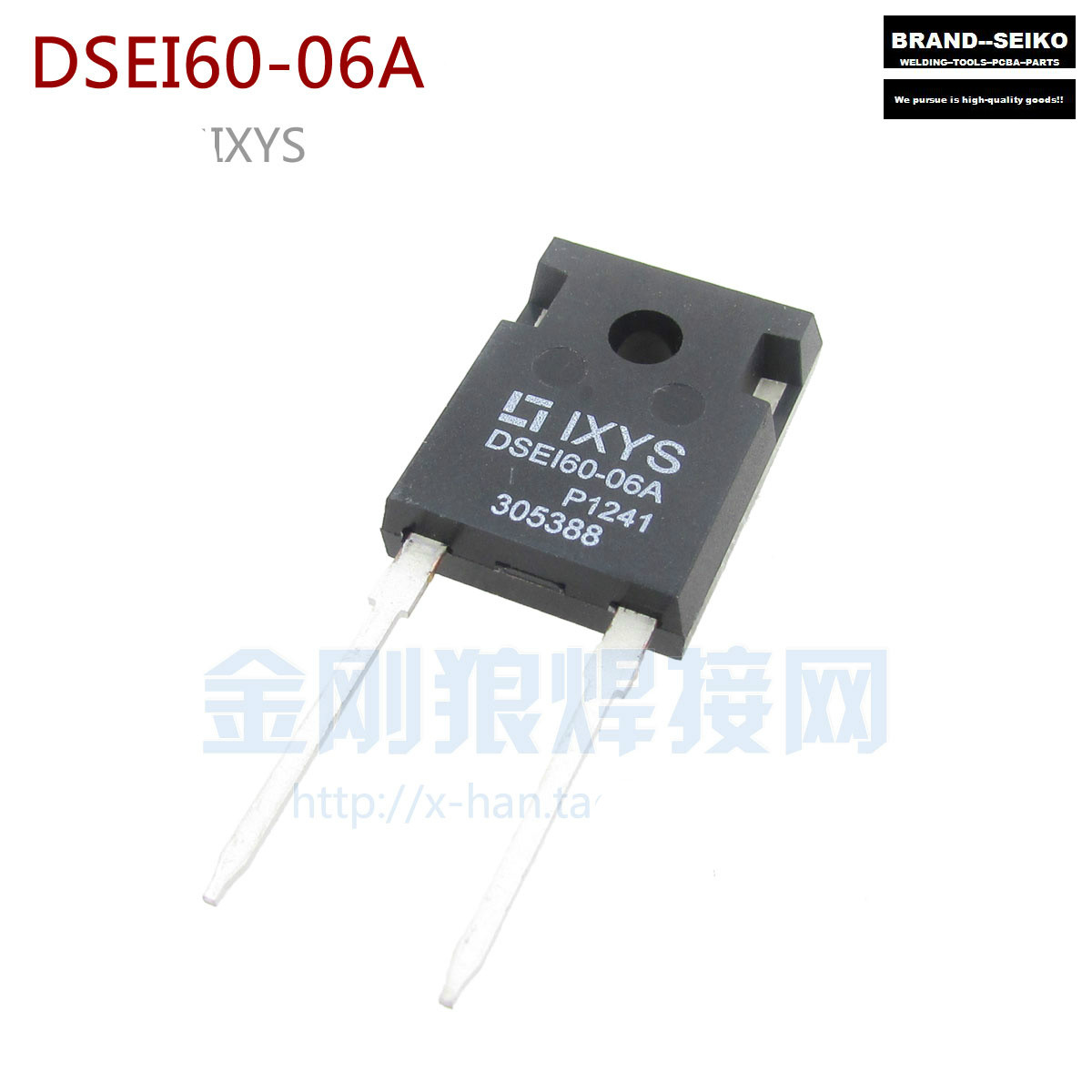 ФОТО 10pcs/lot Inverter Dc Welding Machine Accessories Ixys Dsei60-06a Rectifier Diode 600v 60a