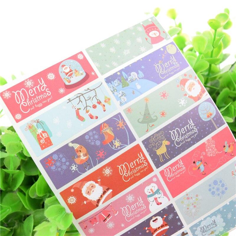 100sheet 1400 Santa Claus Xmas Stickers Party Birthday DIY Handmade For Notebook Cake Baking label Adhesive Pack Sealing Sticker