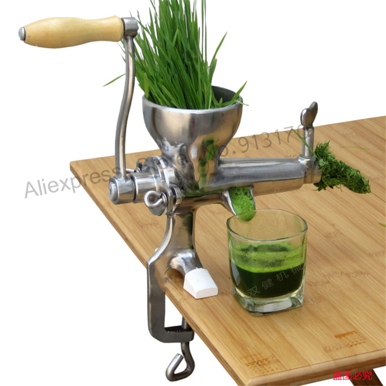 New Wheat Grass Juicer Hand Manual Wheatgrass Fruit Juicer Food Tool Stainless Steel free shipping good quality wheatgrass juicer fruit juicer