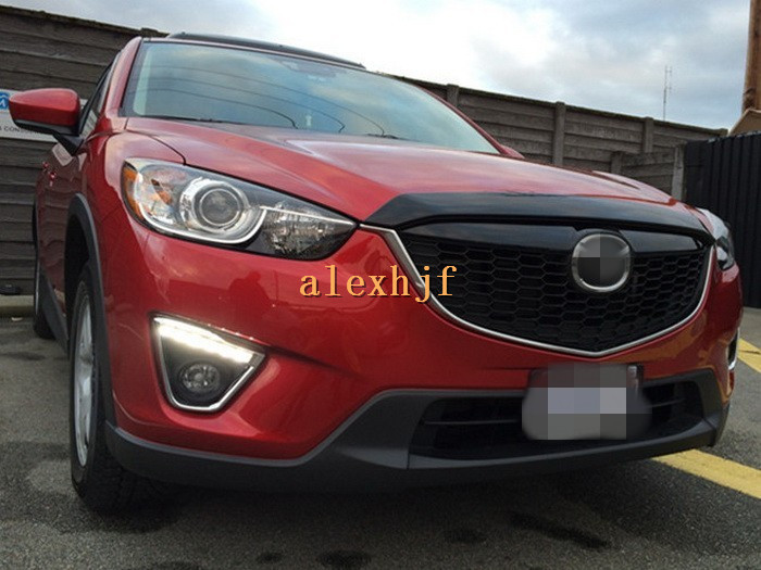 Yeats LED Daytime Running Lights DRL With Fog Lamp Cover Case for Mazda CX-5 2012~15, LED Front Bumper Fog Lamp, 1:1 Replacement for infiniti fx35 37 45 50 ex35 37 h11 wiring harness sockets wire connector switch 2 fog lights drl front bumper led lamp