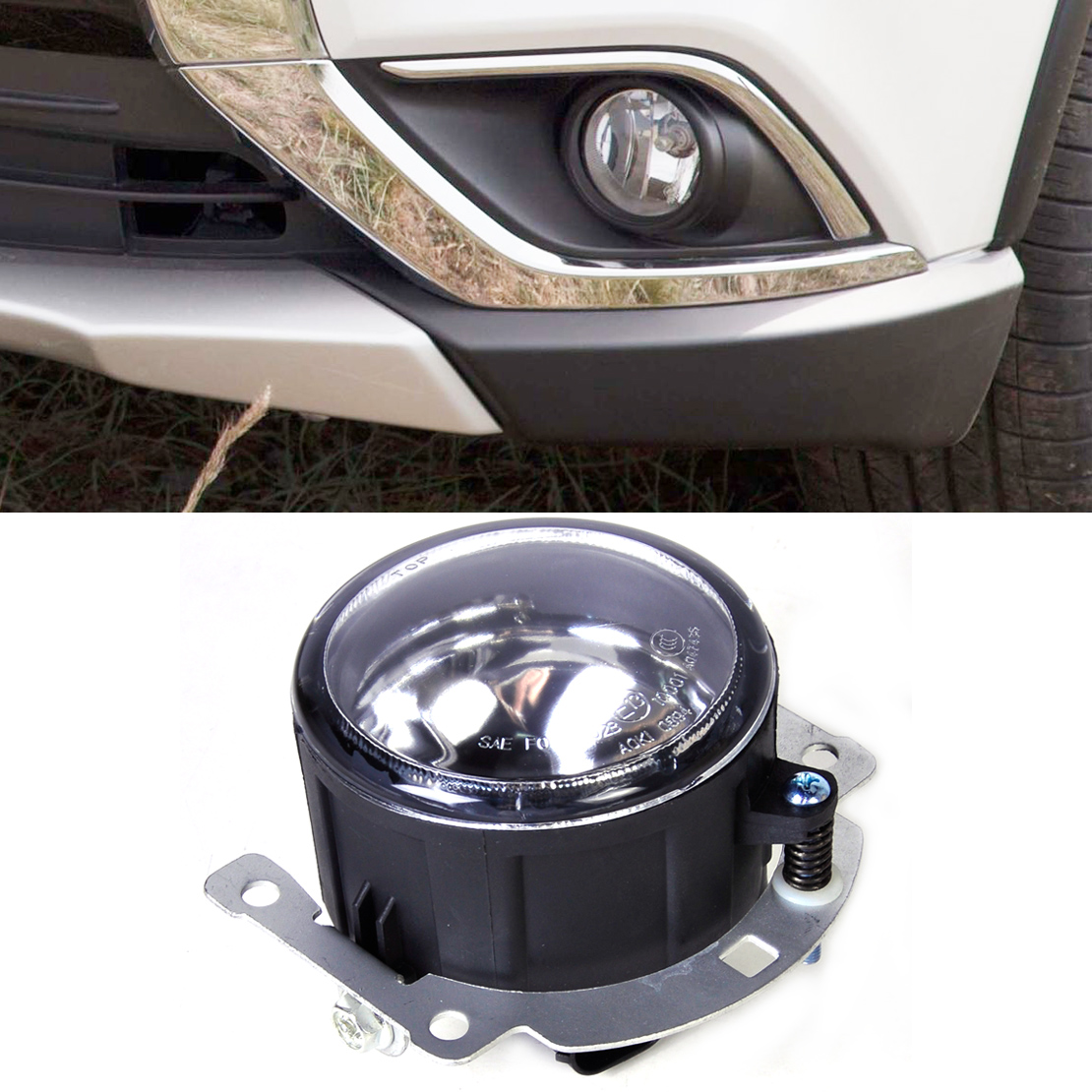 ФОТО New 12V 55W 1PC Left=Right Front Fog lamp Light 8321A467 SL870-1 Fit for Mitsubishi Outlander ASX RVR