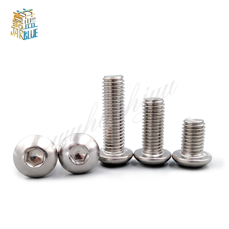 (10 pc/lot) M5,M6,M8 *L =8~50mm ISO7380 Stainless Steel A2 Hex socket button head cap toy screw 20pcs m3 6 m3 x 6mm aluminum anodized hex socket button head screw