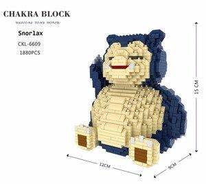 Image 2 - Большой размер, Мультяшные мини блоки Charizard DIY, строительные блоки, бластвуза, детский аниме, модель для аукциона, игрушки для детей, подарки