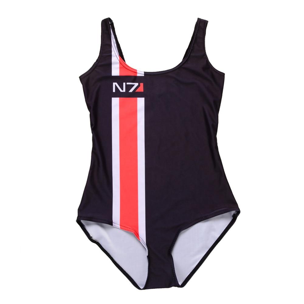 Summer Women Sexy European Mass Effect N7 Swimsuit One -2139
