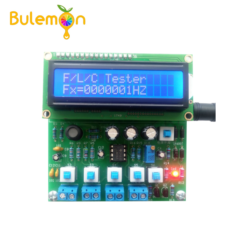 Capacitance Meter Based On 51 Single Chip Inductance Meter Frequency Meter Measurement Kit Electronic Production DIY KIT