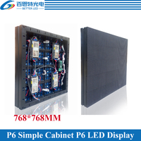 6pcs/lot P6 Outdoor 1/8 scan 768*768mm 128*128 pixels Simple cabinet Full color video LED display screen