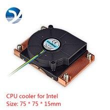 활성 냉각 라디에이터 컴퓨터 냉각 제품 서버 CPU 쿨러 컴퓨터 라디에이터 Intel D9 01 용 구리 방열판