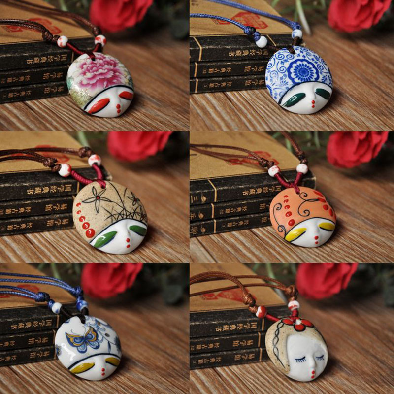 Free shipping quartz watch Beauty ceramic pendant necklace personalized facebook national doll trend accessories ine jewelry