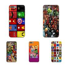 Coque Shell Marvel Heroes Goes Geometric สำหรับ Galaxy A3 A5 A6 A7 A8 A9 C7 J1 J2 J5 J6 J7 core Plus Star Duo Max 2016 2017 2018(China)