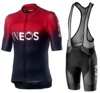 Новинка 2019 года INEOS Лето Велоспорт Джерси комплект дышащая команда гонки Велосипедный Спорт Мужская одежда для велосипеда короткий велосип...
