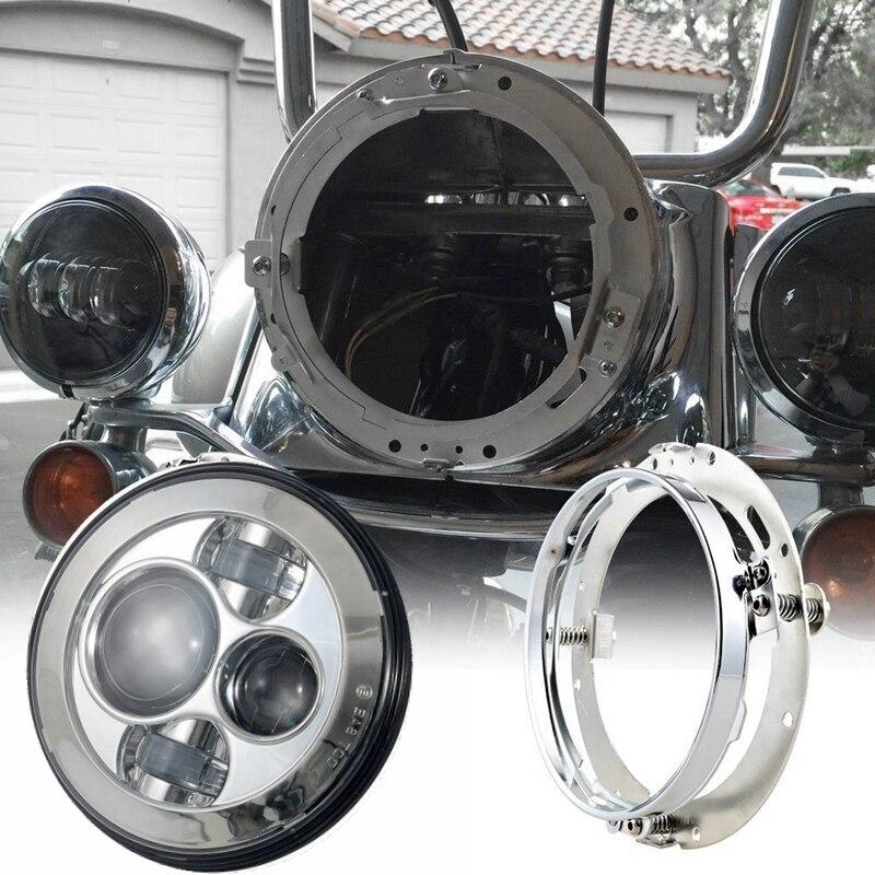 Phare LED rond de 7 pouces avec 1 pièces support de montage anneau d'extension support de montage pour motos