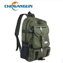 Chuwanglin mochila informal de lona para hombre, bolso de viaje de diseñador, con correa y cremallera, color sólido, ZDD5194