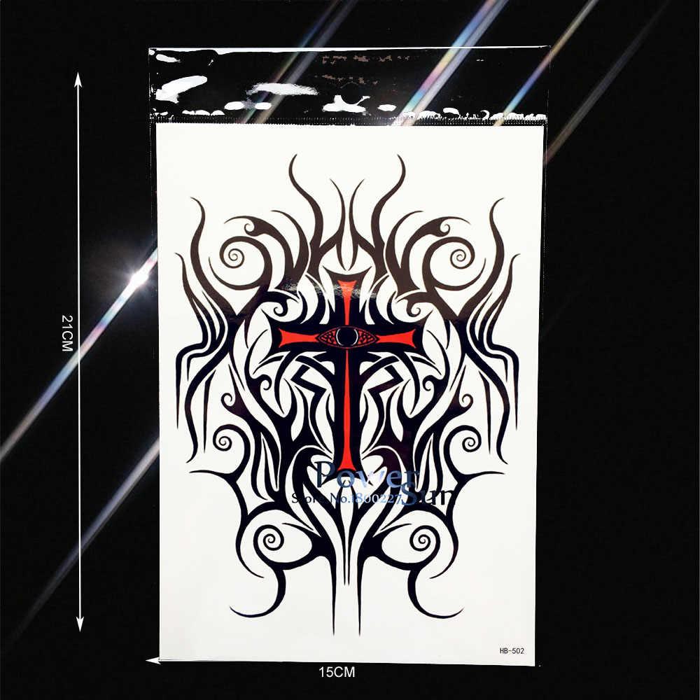 Black Henna Lace Designs Fake Flash Tattoo Men Totem Armband Body