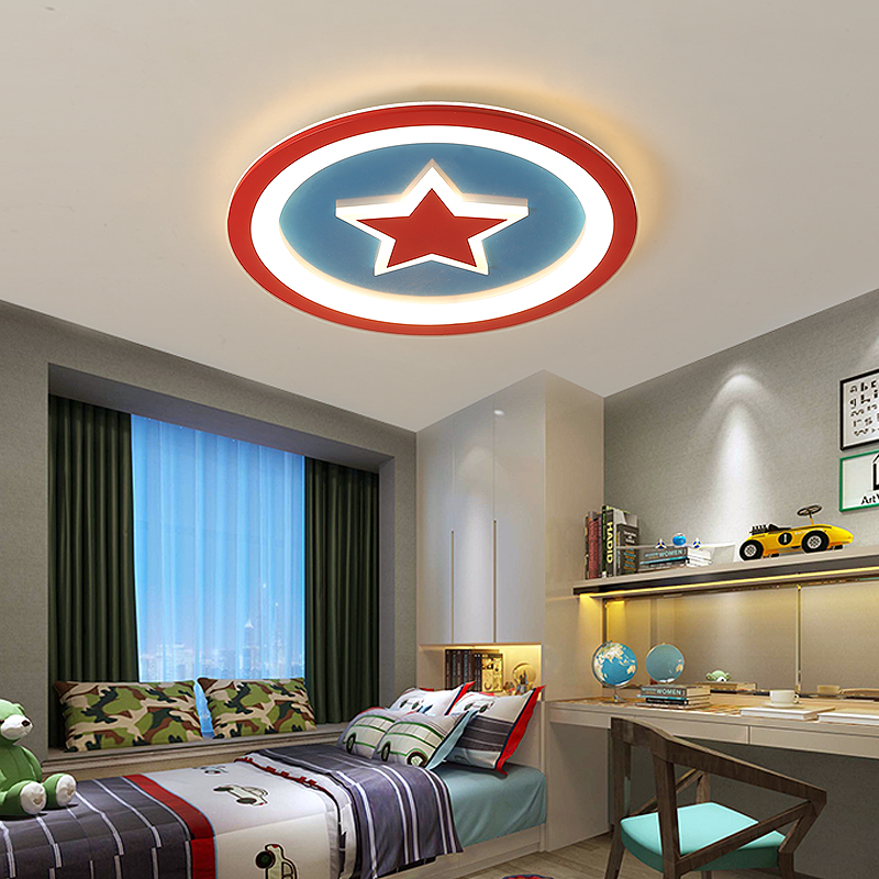 Captain America Modern Led Ceiling Lights for Bedroom Children Boy Room Creative Cartoon Interior Lighting Acrylic Ceiling LampCaptain America Modern Led Ceiling Lights for Bedroom Children Boy Room Creative Cartoon Interior Lighting Acrylic Ceiling Lamp