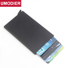 High QualitId metal credit card holder Automatic pop up aluminum wallet Antitheft Rfid Blocking Wallet pass port holder(China)