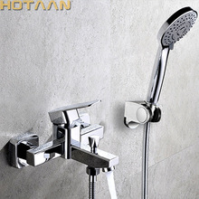Faucet Bathtub Waterfall Mixer Shower-Tap Wall-Mounted Handheld YT-5331 Polished Chrome-Finish