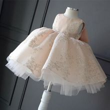 Children's Wedding & party dress Flower Girl Dresses princess Girls O-neck sleeveless print big bow Ball Gown Tutu Dress