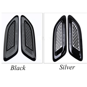 Image 2 - Car Accessory For Land Rover Discovery Sport LR4 For Range Rover Evoque Vogue Hood Air Vent Outlet Wing Trim Stickers 2pcs