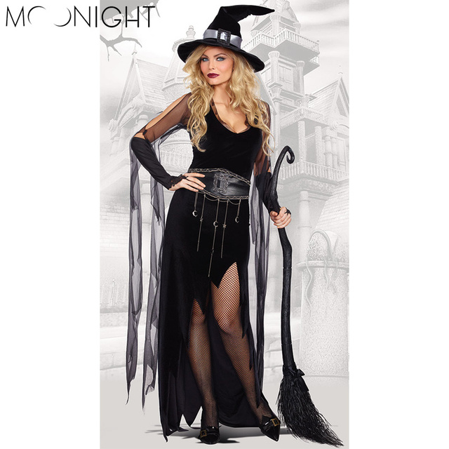 MOONIGHT High Quality Custom Made Women Halloween Party Cosplay Costume Gothic Witch Costumes Long Dress+  sc 1 st  AliExpress.com & MOONIGHT High Quality Custom Made Women Halloween Party Cosplay ...