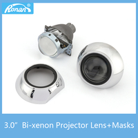 RONAN Car Styling 2PCS 3 0 Bi Xenon Projector Lens For H4 Cars Headlights With Sliver