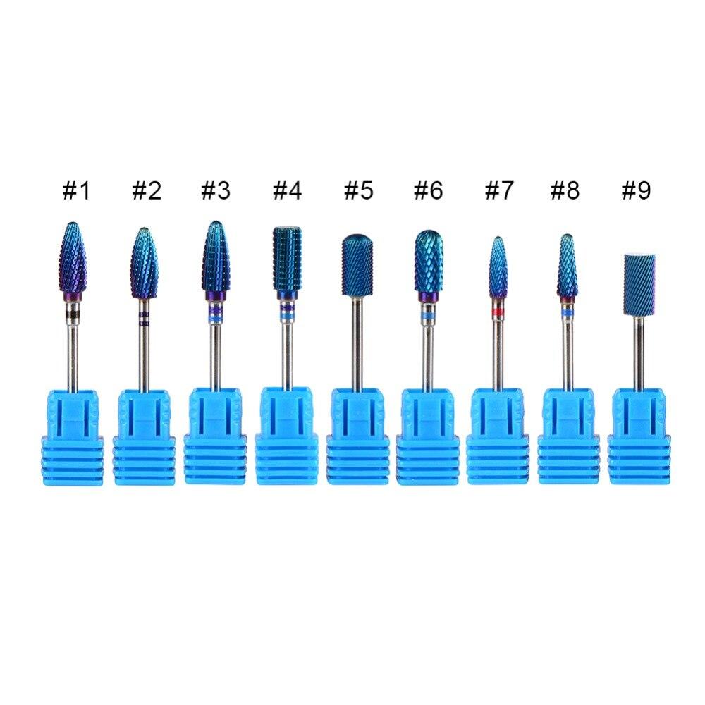 1 peça Victool 5 Formas Disponíveis Azul Revestimento de Carboneto de Tungstênio Bit prego Para Manicure Elétrica Broca Lixa de Unha Máquina De Arte ferramenta