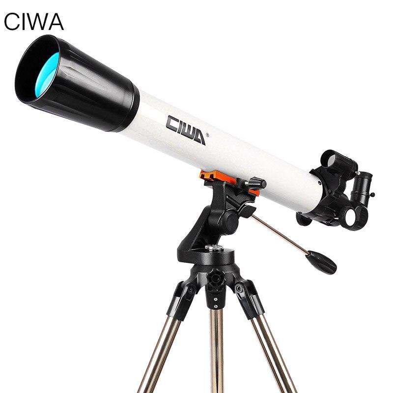 CIWA En Plein Air Professionnel Astronomique Télescope Monoculaire Optique Lunette Conception Portable Trépied Espace télescopique Télescope